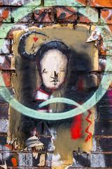 Old Shoreditch Graffiti Art, London.
