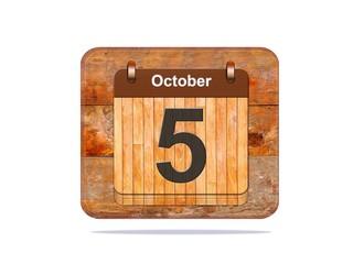 October 5.