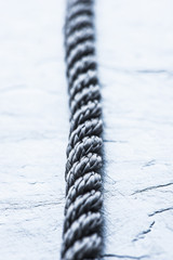Strong rope on stone