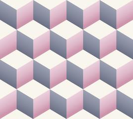 vintage retro seamless cube pattern