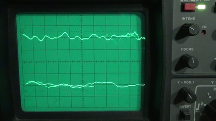 Low frequency on a two channel oscilloscope