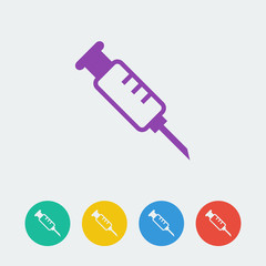Vector syringe icon