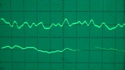 Low frequency on a two channel oscilloscope 01