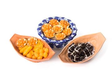 Variety of thai desserts, Khanom Thai
