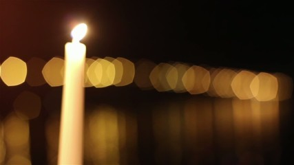 Candles and bridge