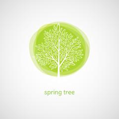Spring Tree. Vector illustration