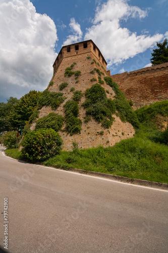 Fotobehang Overige Castello di Gradara, Gradara, Pesaro e Urbino, Marche, Italia