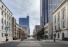 """Постер, картина, фотообои """"view of downtown raleigh, north carolina"""""""