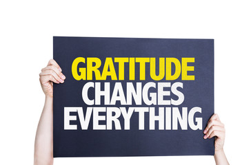 Gratitude Changes Everything card isolated on white background