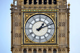 Dial of the clock tower Big Ben in London