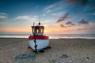 Beautiful Fishing Boat at Sunrise