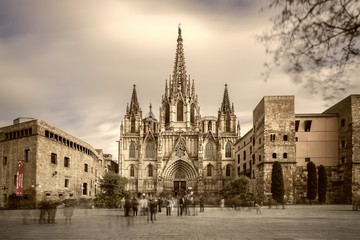 The Barcelona cathedral, Catalonia, Spain