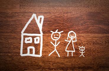 Haus mit Familie