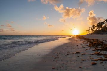 Morning beach landscape, Hispaniola, Dominican republic