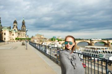 Beautiful urban woman in Dresden
