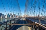 Fototapety Manhattan skyline view from Brooklyn Bridge