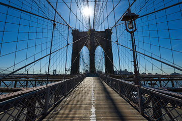 Brooklyn bridge pillar, New York City, USA