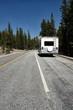 RV Camper auf einer Straße in Amerika