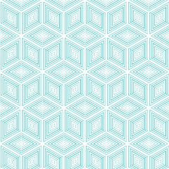 Seamless pattern of blue and white