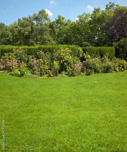 Garten mit Blumenbeet - 79747138