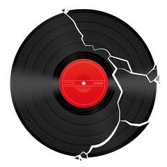 Broken Blank Vinyl Record