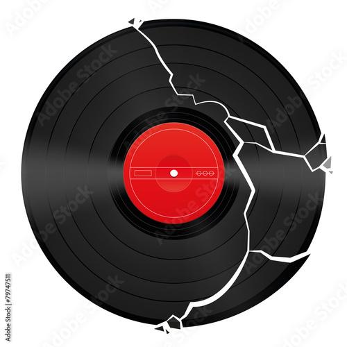 Broken Blank Vinyl Record - 79747511