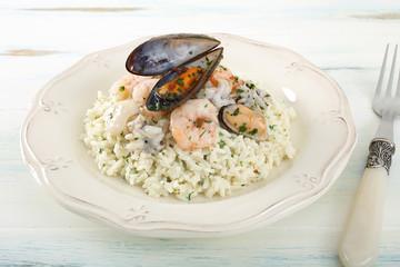 riso con frutti di mare