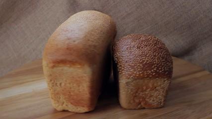 Wheat varieties of wholemeal bread