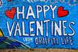 Valentines day graffiti