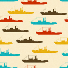 Texture with colorful ships
