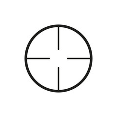 The crosshair icon. Search symbol. Flat