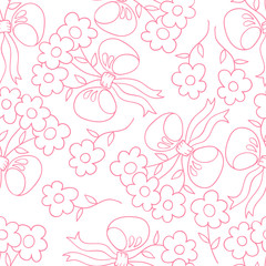 Flower seamless pattern. Floral vector background.