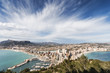 View of touristic town, Calpe, Spain