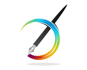 Pen Rainbow Ink