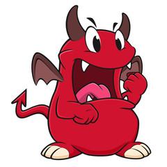 Cartoon Angry Devil