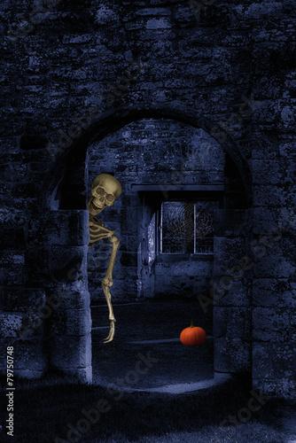 Skeleton At Halloween