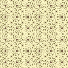 Cute tiny flower/circle seamless pattern / background. Sweet lac