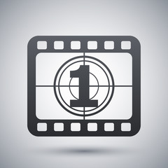 Vector film strip icon