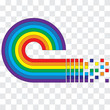 The concept of creating a rainbow