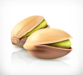 Pistachio nuts, vector icon