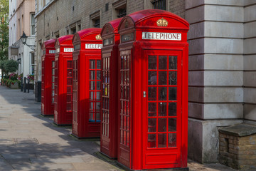 London - Red Telephone Boxes