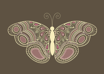 Abstract  butterfly card