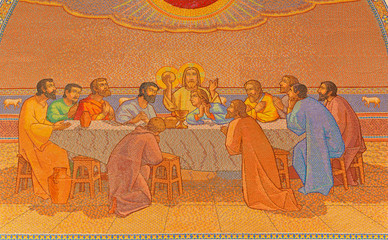 Jerusalem - Last supper mosaic