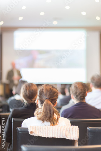 Audience in the lecture hall. - 79752798