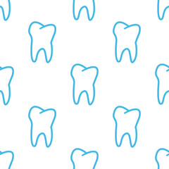 Tooth seamless pattern