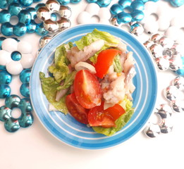 Salat mit Matjes Heringe