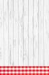 Hochformat: Holz Hintergrund oder Blatt rot weiß kariert