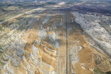Coal mine, aerial view