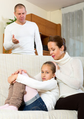 mother solace to crying daughter