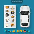 Auto Service Infographics - 79754196